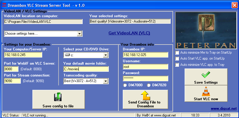 Dreambox VLC Stream Server Tool | ToolBox